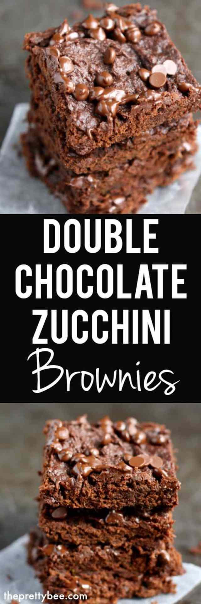 gluten free vegan zucchini brownies