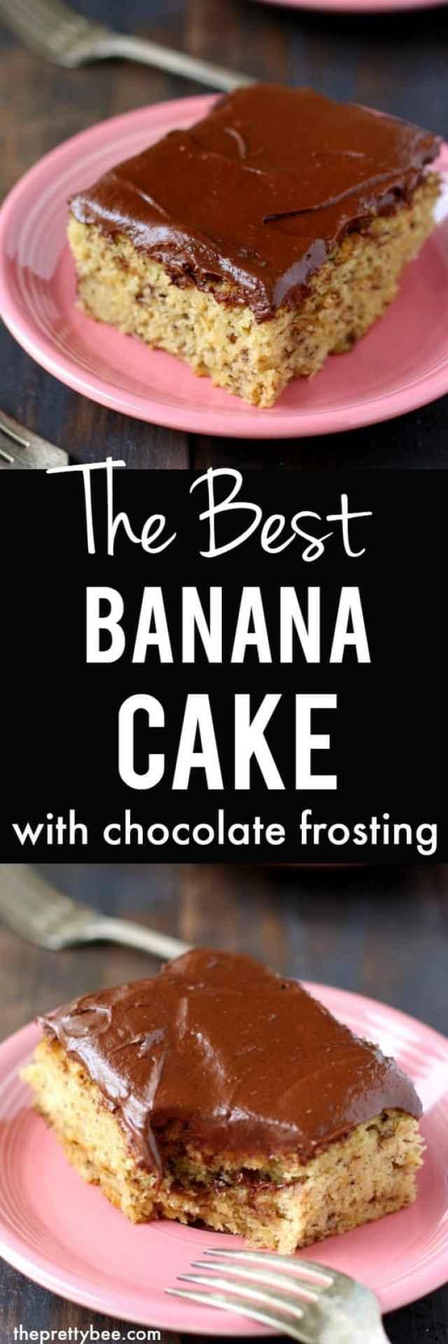 gluten free banana cake with decadent chocolate buttercream