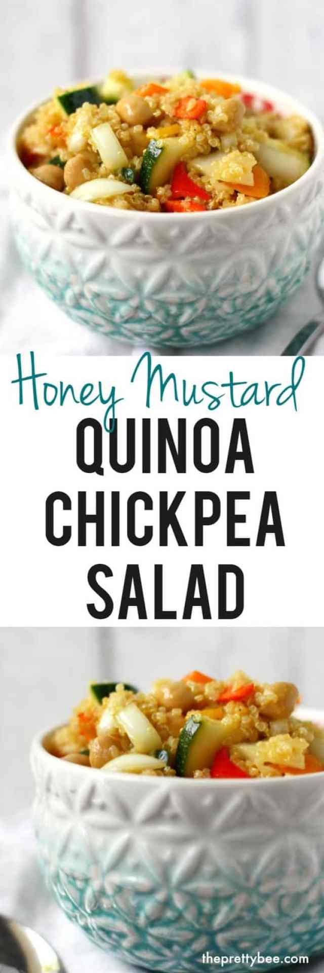 easy quinoa chickpea salad recipe