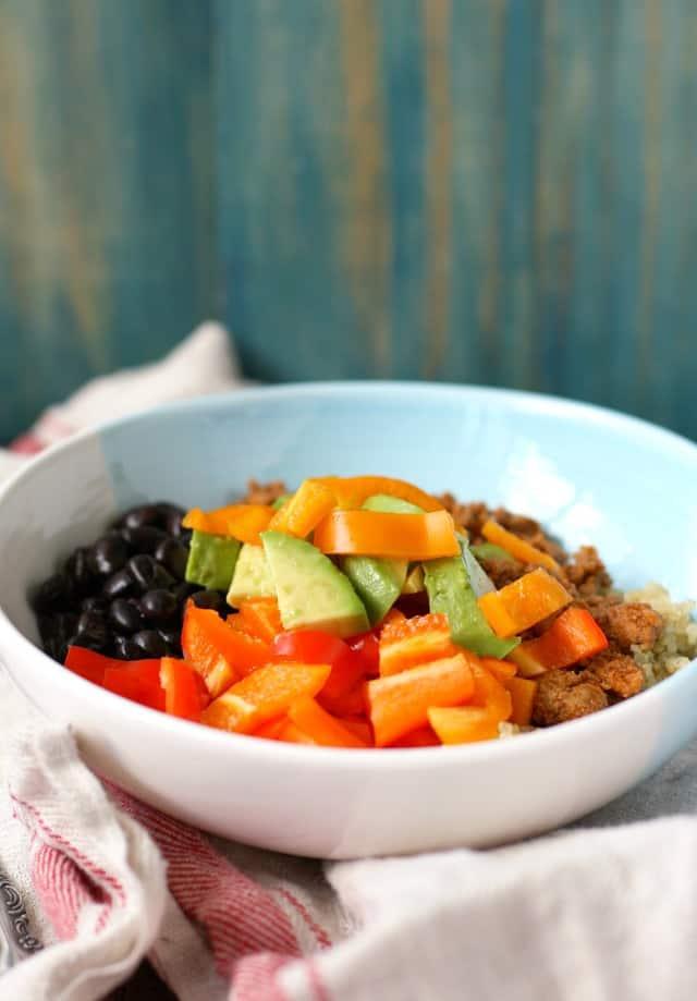 corn free quinoa taco bowls