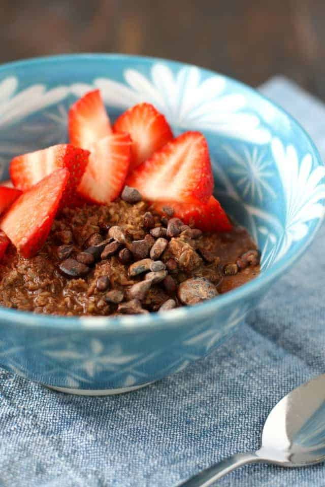 gluten free chocolate porridge