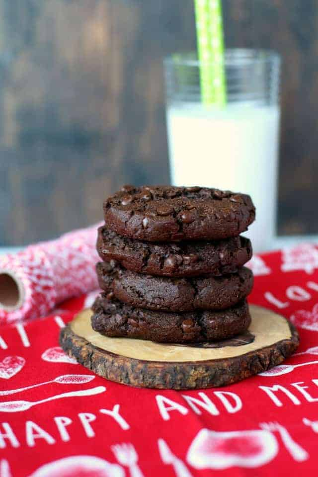 double chocolate chip gluten free freezer cookie dough
