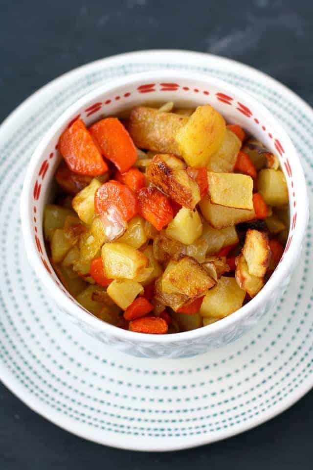 potatoes carrots and onions
