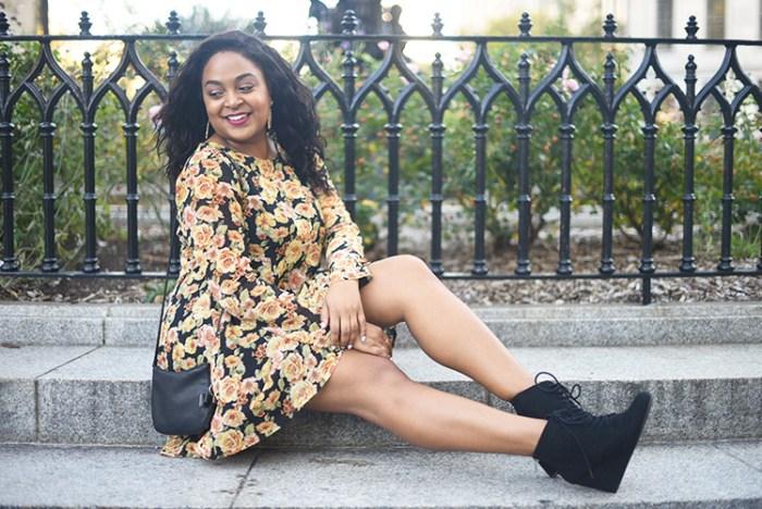 fall dress, fall fashion, floral