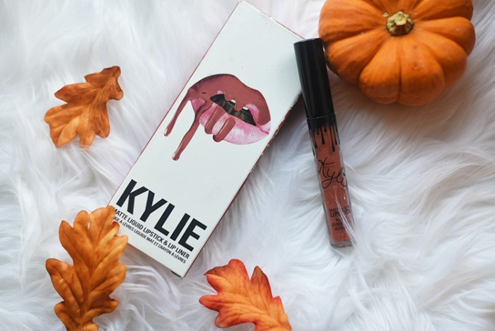 fall lipstick, fall makeup, fall, beauty, cosmetics, kylie cosmetics, review