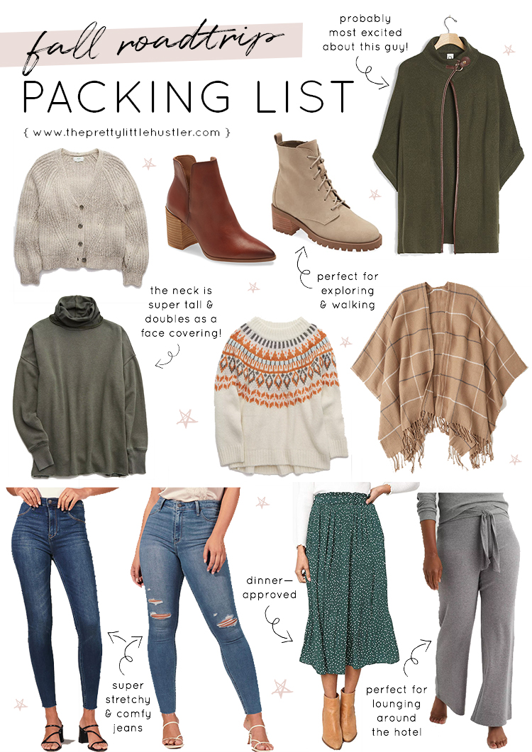 Fall Road Trip Packing List What I M Bringing To Vermont Pretty Little Hustler Blog