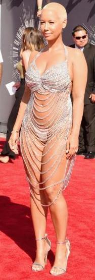 Amber Rose draped in diamonds
