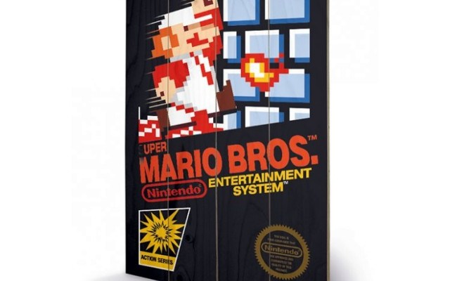 super mario bros wall art original nes cartridge cover - £34.99