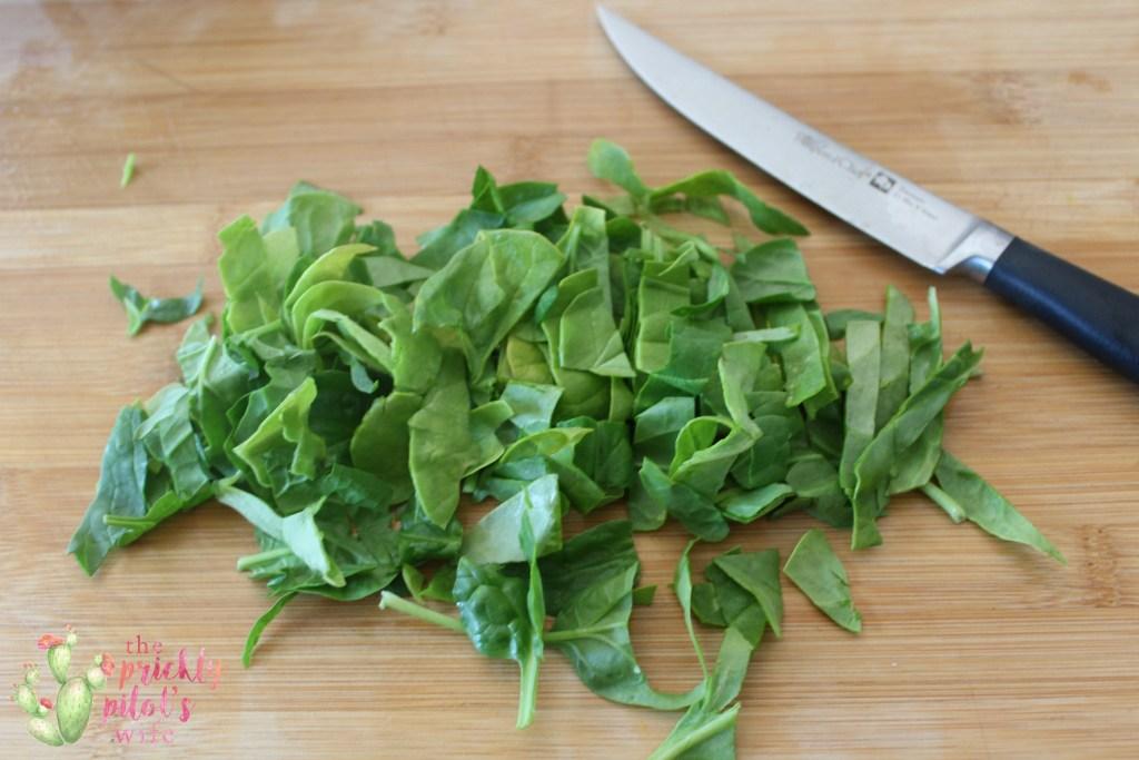 mini quiche spinach chopped