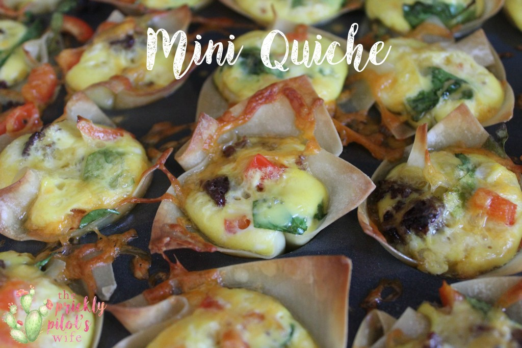 mini quiche title recipe