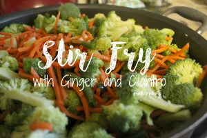 Stir Fry with Cilantro and Ginger Essential Oils