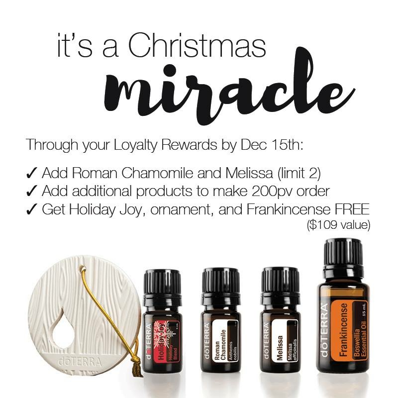 doTERRA Promotions December 2016 - Reactivation