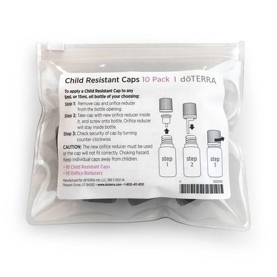 doterra essential oil child proof caps resistant