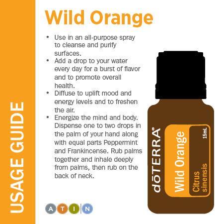doterra wild orange uses