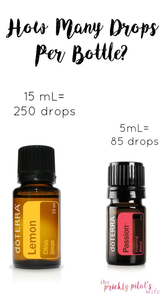 drops per bottle doterra essential oils