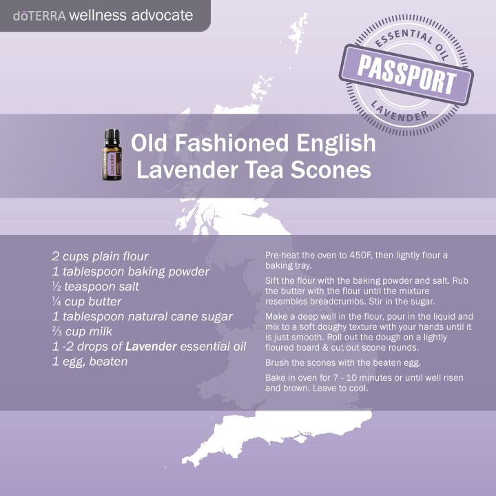 lavender essential oil doterra tea scones