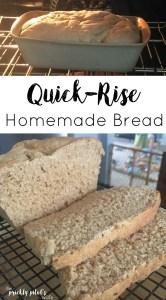 quick-rise homemade bread