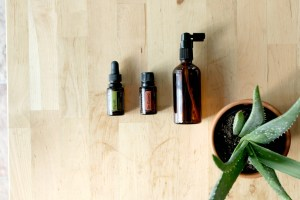 homemade all-natural throat spray made with doTERRA essential oils