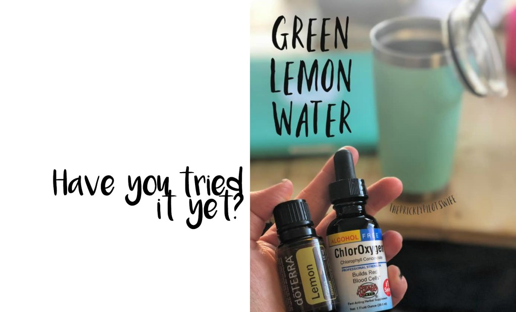 green lemon water