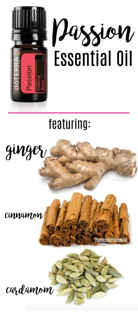 doterra passion essential oil inspiring blend cinnamon cardamom ginger