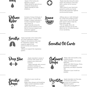 doterra essential oil cards