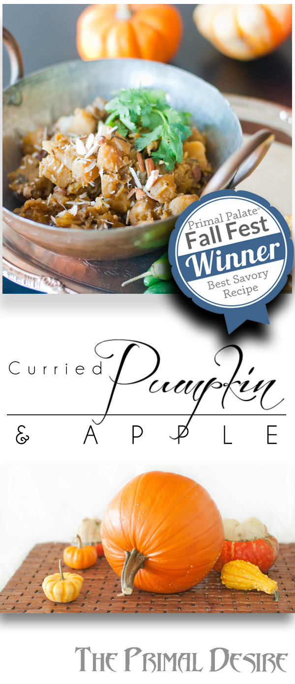 Curried Pumpkin and Apple with Rainins