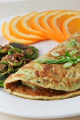 Not sure if it's Cinco de Mayo enough, but what the avocado lime omelette IS is fantastic - on any day!