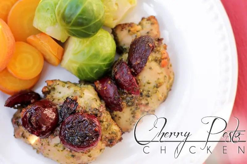Cherry Paleo Pesto Chicken title