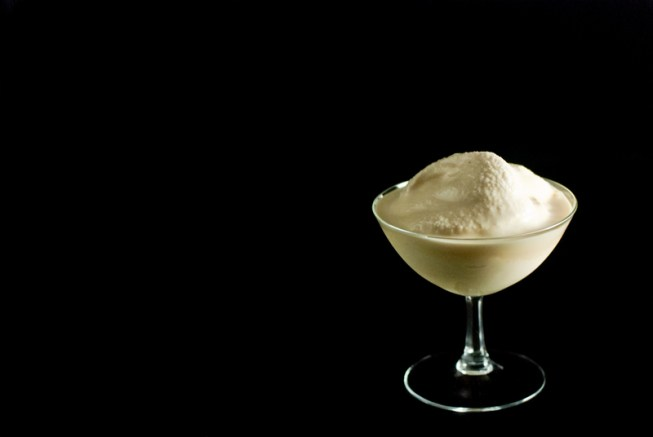 Irish Cream Eggnog Ice Cream is a simple 2-step process, only needing a freezer and a blender - https://www.theprimaldesire.com/irish-cream-eggnog-ice-cream-in-a-blender