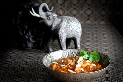 Indian elephant with paleo butter chicken made in an Instant Pot.