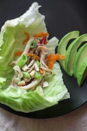 Crisp lettuce & raw veggies provide a satisfying crunch balancing the sweet & savory fermented honey garlic chicken http://wp.me/p4Aygm-26M