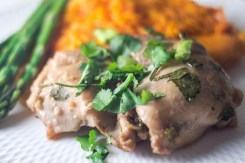 AIP Garlic Cilantro Chicken Thighs - are a great weeknight dinner full of flavor! https://wp.me/p4Aygm-2py