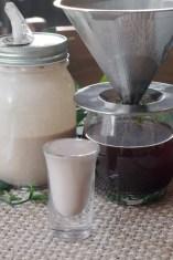 Coconut dairy free Irish creamer shot and drip coffee.