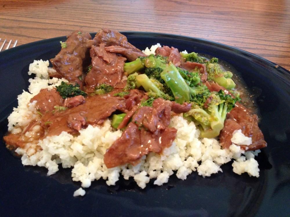 Primal Crockpot Beef & Broccoli w/ Cauliflower Rice (1/3)