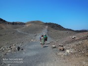 Getting up the volcano in the middle of the Caldera