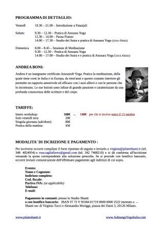 15-09 Andrea Boni - intensivo su yoga sutra di Patanjali - shanti e ashtanga yoga italia1