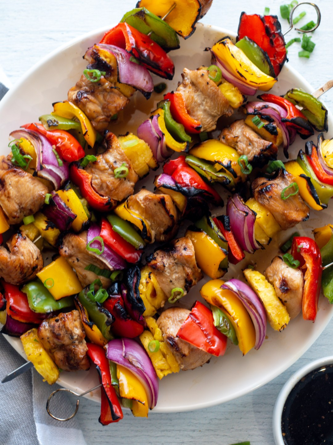 Hawaiian Teriyaki Chicken Kabobs Whole30 Paleo The Primitive Plate