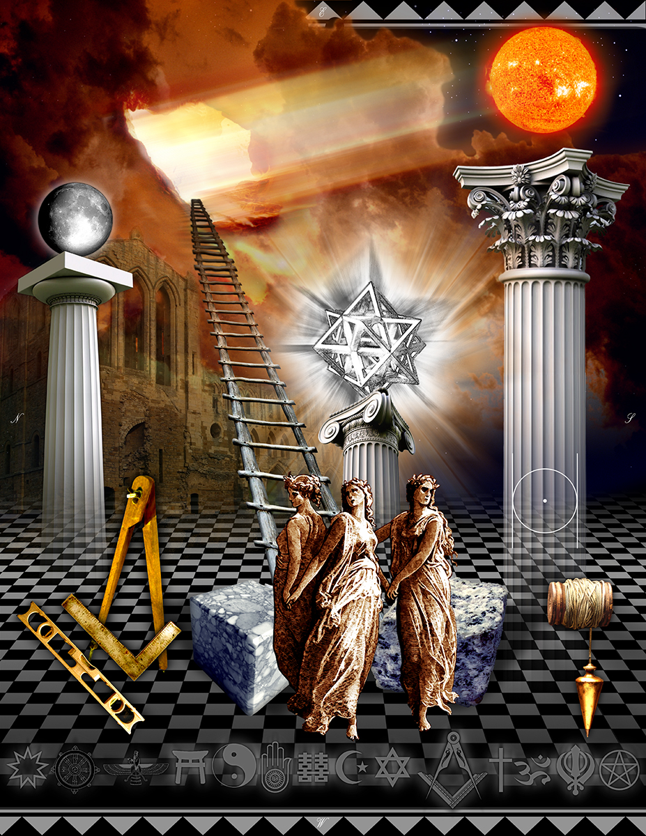 Freemasonry, apprentice, Tracing board, digital, Gregory B. Stewart
