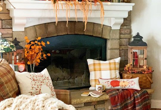 fall decorating ideas in farmhouse style.