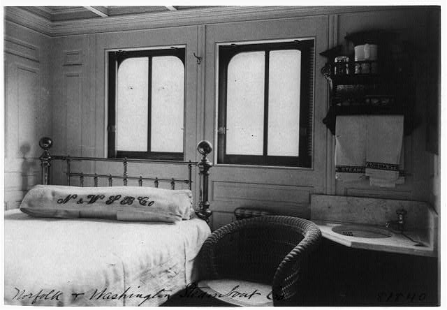 Interior of steamboat cabin Francis Benjamin Johnson photo on N & W steamboat