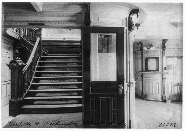 Pursers Office on Norfolk & Washington steamship