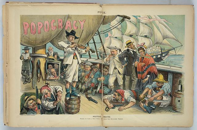 William Jennings Bryan and Political Pirates Puck