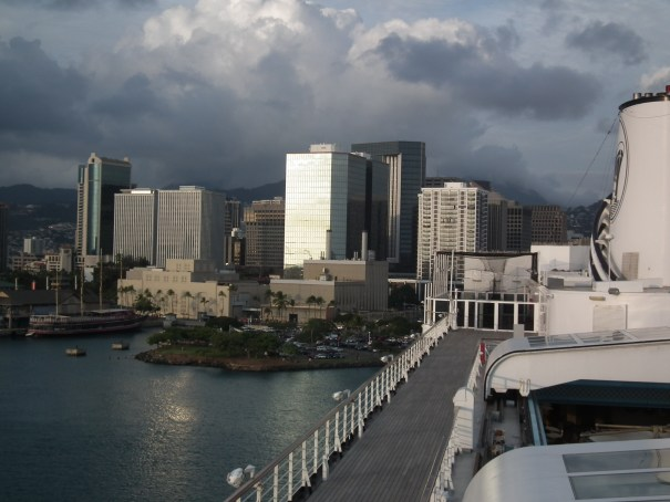 A Princess ship at dock in Pearl Harbor, Hawaii as seen from the Holland America Zaandam. THE PRIVATEER CLAUSE photo
