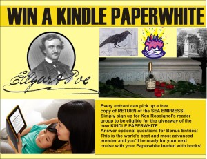 Kindle Paperwhite promo for Poe Birthday