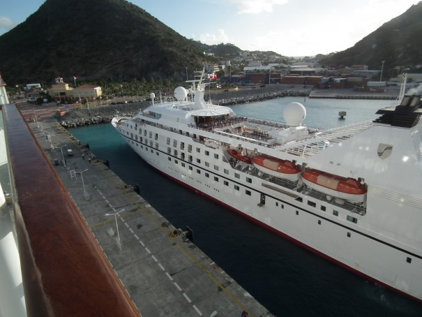 The Seaborne Legend arrives at St. Maarten. THE PRIVATEER CLAUSE photo