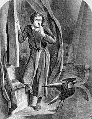 John Tenniel illustration 1858 The Raven