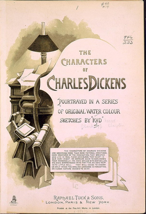 Title page of The Characters of Charles Dickens portrayed in a series of original water color sketches by Kyd