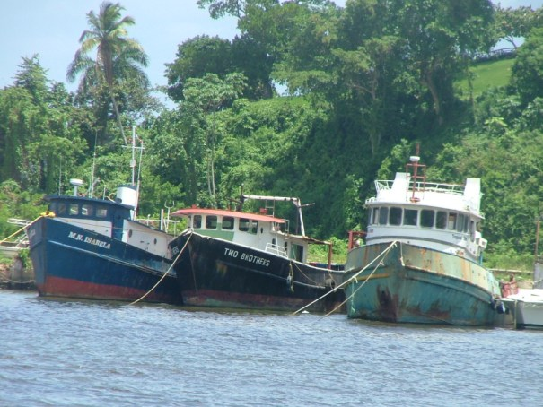 Fishing boats in the harbor of Samana, Dominican Republic. THE PRIVATEER CLAUSE photo