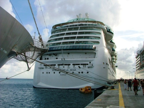 Serenade of the Seas at dock. THE PRIVATEER CLAUSE photo