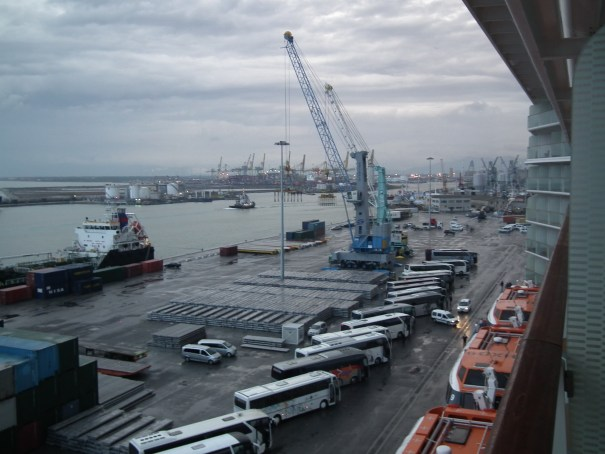With cruise ships docking at Livorno in addition to being a busy freight port, activity hums 24 hours a day.  THE PRIVATEER CLAUSE photo